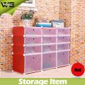 15 Cubes Display Plastic Shoe Organizer Storage Cabinet