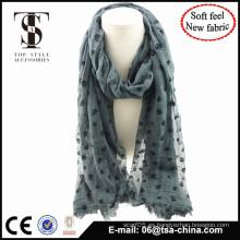 Bufanda suave al por mayor mezclada de la venta al por mayor del otoño de la sensación de la alta calidad material para la señora