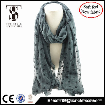 Blended material high quality soft feel autumn wholesale scarf for lady