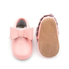 Buty dziecięce Pink Newborn Bowknot Baby Girl Mokasyny