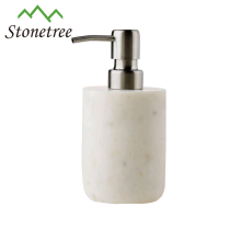 distributeur de lotion en marbre blanc Carrara