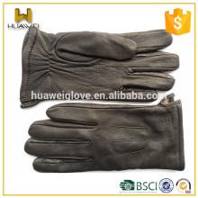 Men's deerskin leather driving gloves winter custom leather gloves