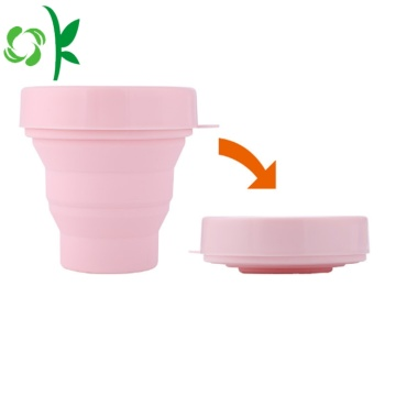 Tasse mignonne rétractable de FDA de sports en plein air de pliage de silicone