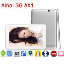 Ainol AX1 17.400 3 G Tablet marka PC MTK8389 avlu göbek 1.2 GHz 7 inç HD ekran Bluetooth GPS HDMI Çift Sim içinde WCMDA ücretsiz kargo