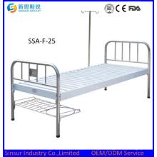¡Gran venta! Cabeza de metal / pie cama médica plana / cama de hospital