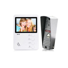 Bcom Factory Promotion White Plastic Color 4.3 Inch Screen Video Intercom System For Villa building