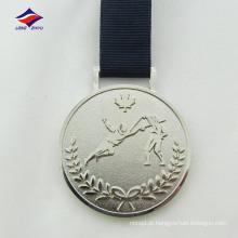 Brilhante fabricante de moda de cores de prata liga de zinco medalha de fundição