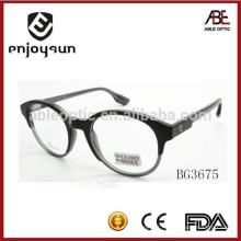 2015 óculos de óculos de acetato redondo de alta qualidade quadro óculos clássico