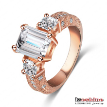 18k Rose Gold Plated Wedding Ring for Women (Ri-HQ1018-A-2)