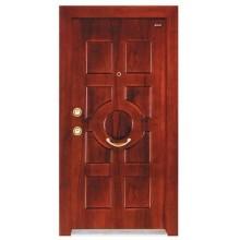 fábrica de acero puerta de madera