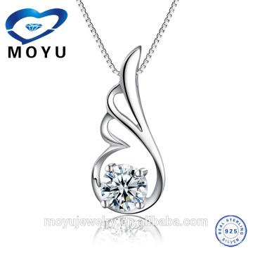 Joyería de plata al por mayor 2015 nuevo producto colgante de plata para las mujeres con color zircon