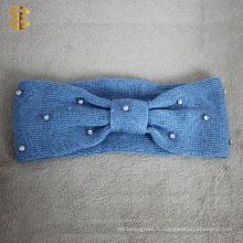 Bandeaux en tricot à la mode à la tricot à la mode avec diamant
