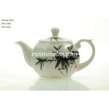 Olla octogonal de té de bambú de 250 cc