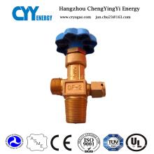 Válvula de cilindro de oxígeno de material de acero inoxidable