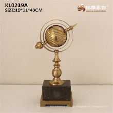 Neuer Ankunftsmetall globel runder Tisch globel mit Marmorunterseite