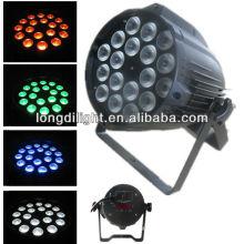 18 * 9w 3in1 Led par 64 rgb dmx stage lighting china литье под давлением алюминий led par может светить dj оборудование