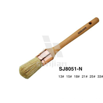 Sjie8051-N Pure Bristle Round Paint Brush
