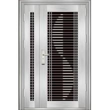 puerta de entrada de acero inoxidable de lujo