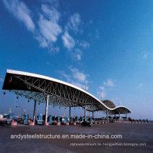 Niedrige Kosten und hohe Qualität Space Frame Roofing für Mautstation