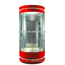 Elevador panorámico de alta calidad con sala de máquinas