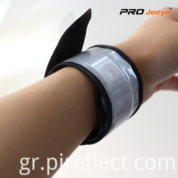 High Visible Fluo Grey PVC Slap Bracelet WB-JG006