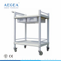 AG-UTB08 ABS utility medication trolley hospital nursing clinical carts