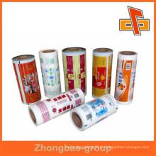 Fábrica de venda directa embalagem alminium multi cor laminação rolo de filme sacos