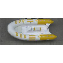 Barco inflável rígido amarelo atraente de 3,9 m