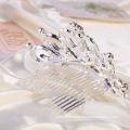 Elegant Crown Rhinestone Tiara Hair Comb for Wedding