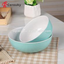 Beautiful design microwave safe blue color glaze japanese rice bowl set