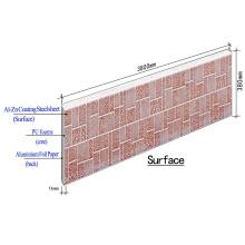 Painel de parede sanduíche de PU de metal para isolamento