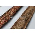 Decorative Stock Curtain Fringe French Lace Trims frange pour rideau accessoire