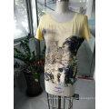 Summer Latest Fashion Printing Mountain Charming Women T-Shirt