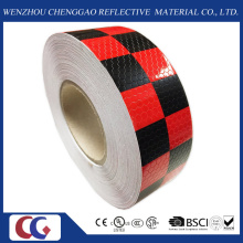 Red & noir striées réfléchissante sécurité AVERTISSEMENT perceptibilité Tape (C3500-G)