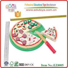Pizza-Lebensmittel-Set pädagogische Holzspielzeug