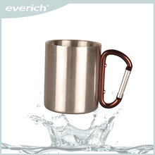 2015 Wholesale Double Wall Stainless Steel Beer Mug With Carabineer