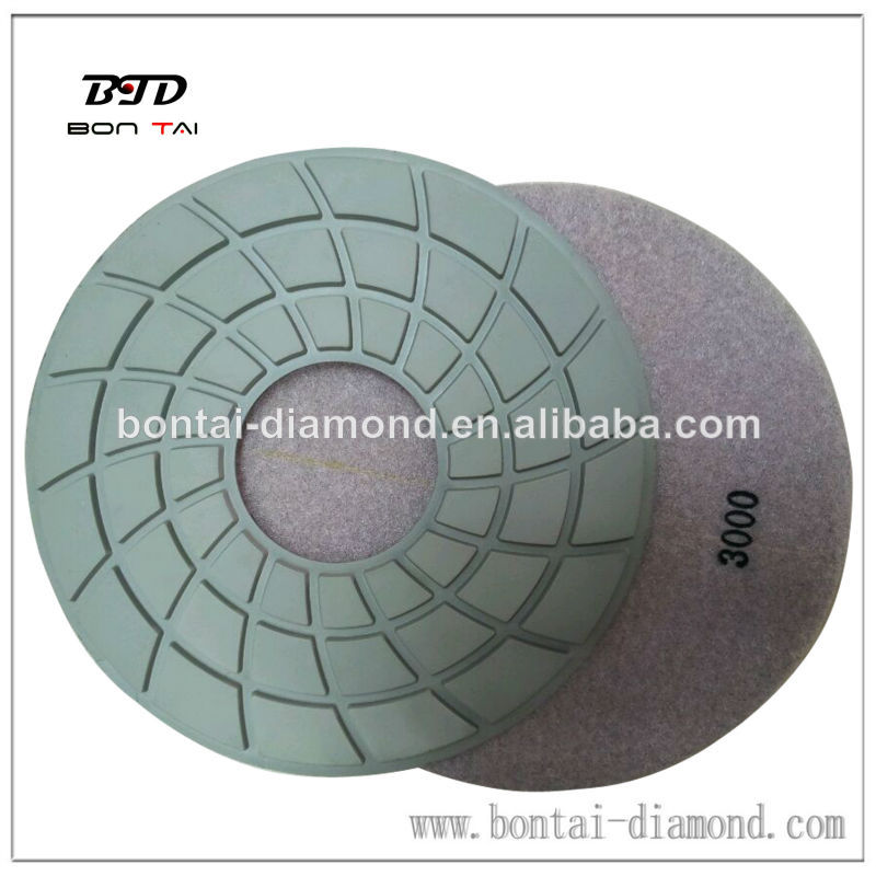 7-inch Diamond Buffing Flexible Pads for granite