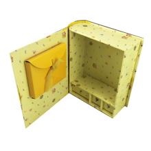 पीला दराज Paperboard दान बच्चे एहसान बॉक्स