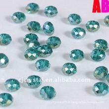 Bijoux pendentif rondelle perles de verre