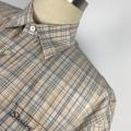 men's grid casual shirt environmental design shirt
