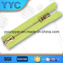 #5 Two Sided Open Gold Y Teeth Metal Zipper
