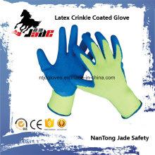 10g de algodón Palm Latex Crinkle recubierto guante de seguridad