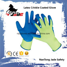 10g Cotton Palm Latex Crinkle Coated Safety Glove