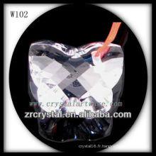 Perles de cristal en forme de papillon W102