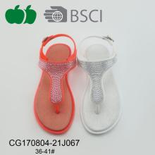 Sandalias cristalinas del verano de las mujeres baratas