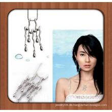 Einzigartiges Design Silber überzogene Legierung hängende Halskette natürliche Steine für Schmuck machen