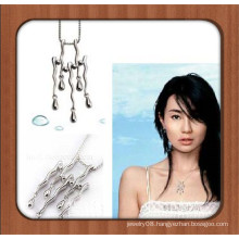 Unique design silver plated alloy pendant necklace natural stones for jewelry making