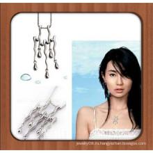 Ожерелье из натурального камня с уникальным дизайном, покрытое серебром, для украшения