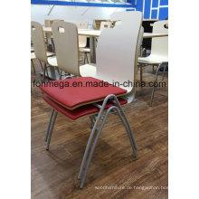 Modernes Polstermöbel Restaurant Stapelbare Stühle für den Großhandel (FOH-SBC03)