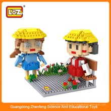 Loz bloco de diamante, as crianças iluminam brinquedos de tijolo, blocos de construção de brinquedos para crianças